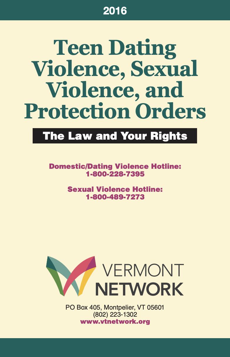 Teen Protection Order Booklet Cover